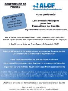 invitation Conference de presse ALCF du 10 février 2015